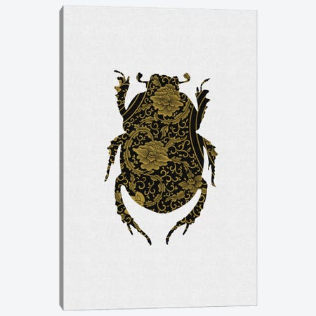 Black & Gold Beetle I Canvas Print #ORA20} by Orara Studio Canvas Print