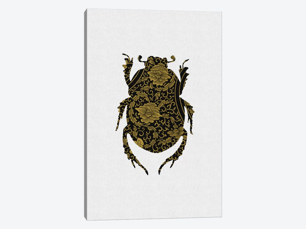 Black & Gold Beetle I by Orara Studio 1-piece Canvas Print