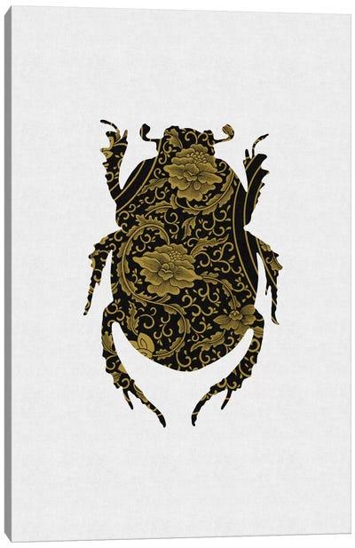Black & Gold Beetle I Canvas Art Print