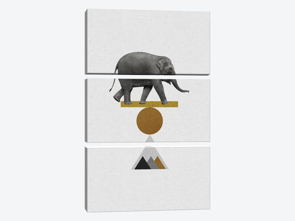 Tribal Elephant by Orara Studio 3-piece Art Print