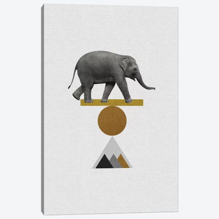 Tribal Elephant Canvas Print #ORA219} by Orara Studio Canvas Wall Art