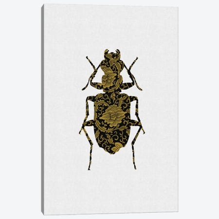 Black & Gold Beetle II Canvas Print #ORA21} by Orara Studio Canvas Art Print