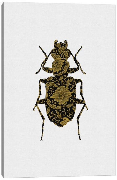 Black & Gold Beetle II Canvas Art Print