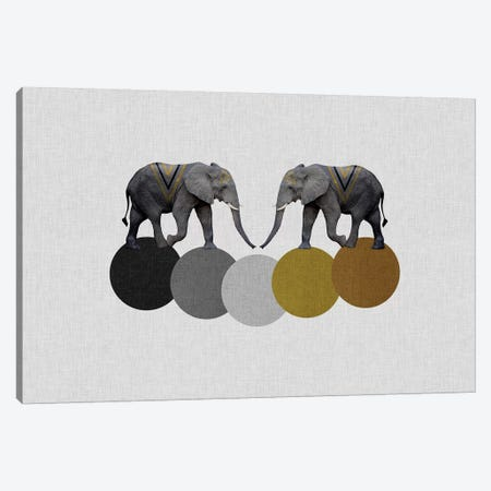 Tribal Elephants Canvas Print #ORA220} by Orara Studio Canvas Print