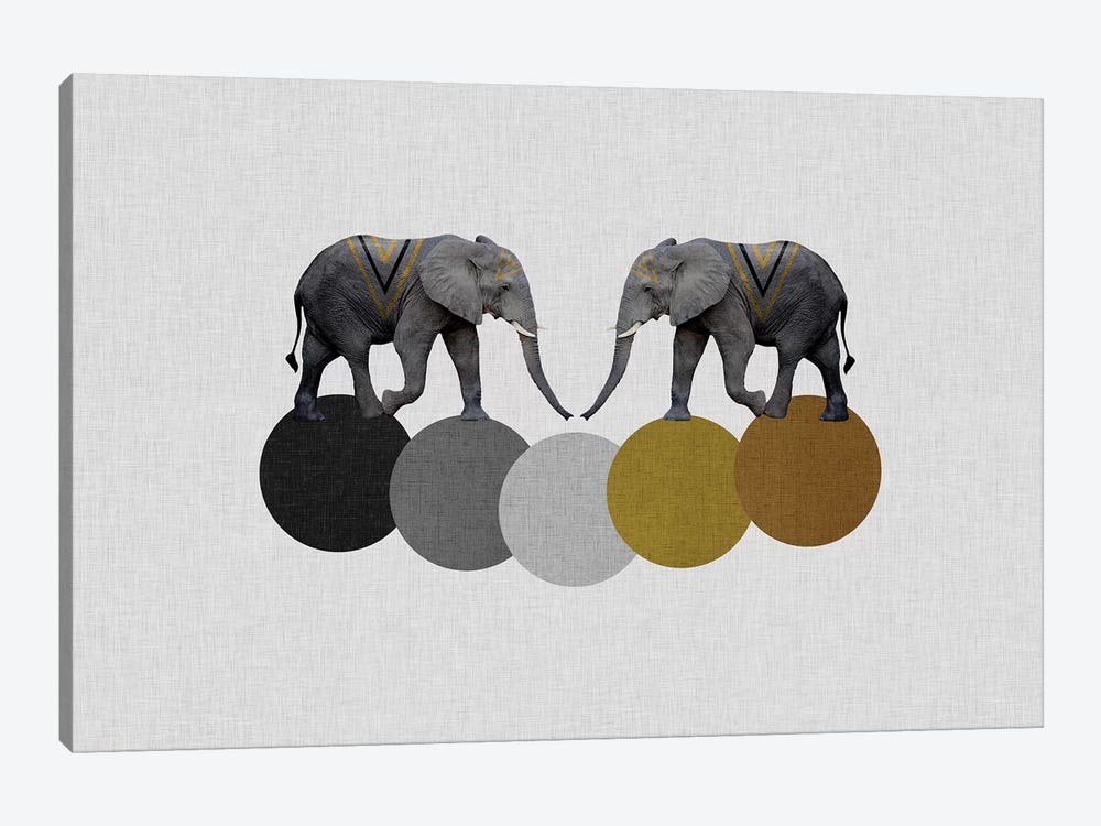Tribal Elephants by Orara Studio 1-piece Canvas Art Print