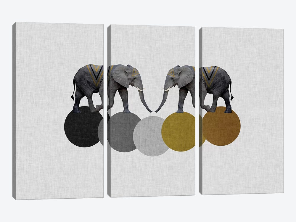 Tribal Elephants by Orara Studio 3-piece Canvas Art Print