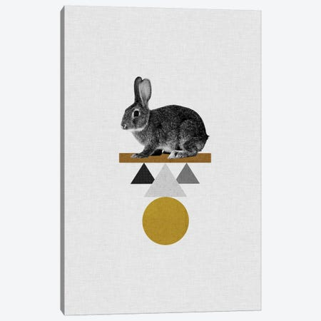 Tribal Rabbit Canvas Print #ORA221} by Orara Studio Art Print