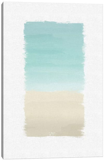 Turquoise Abstract Canvas Art Print