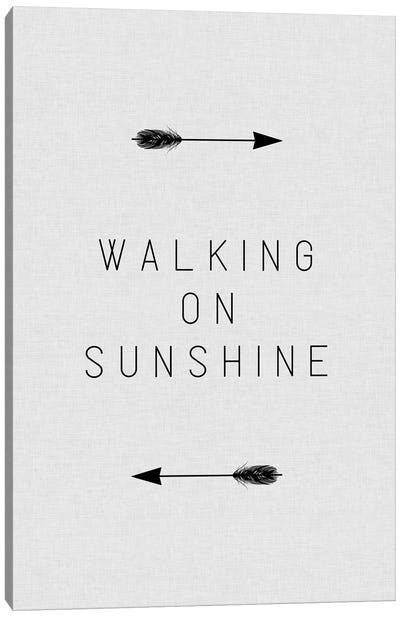 Walking On Sunshine Arrow Canvas Art Print