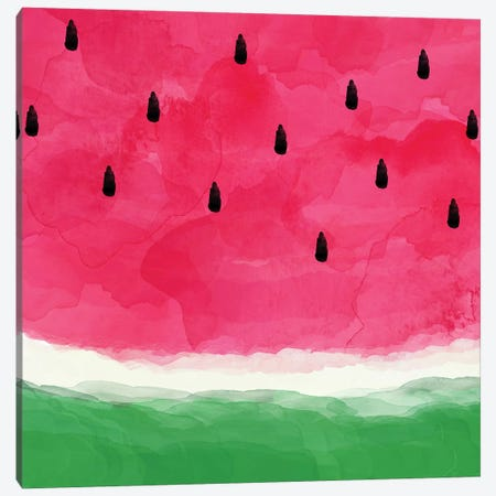 Watermelon Abstract Canvas Print #ORA226} by Orara Studio Canvas Art