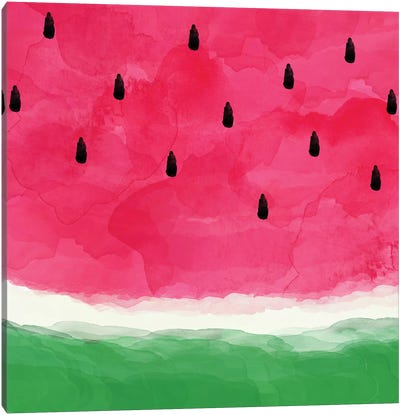 Watermelon Abstract Canvas Art Print