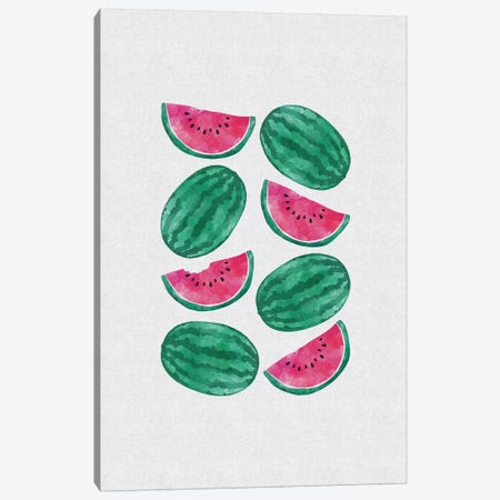 Watermelon Crowd Canvas Print #ORA227} by Orara Studio Canvas Wall Art