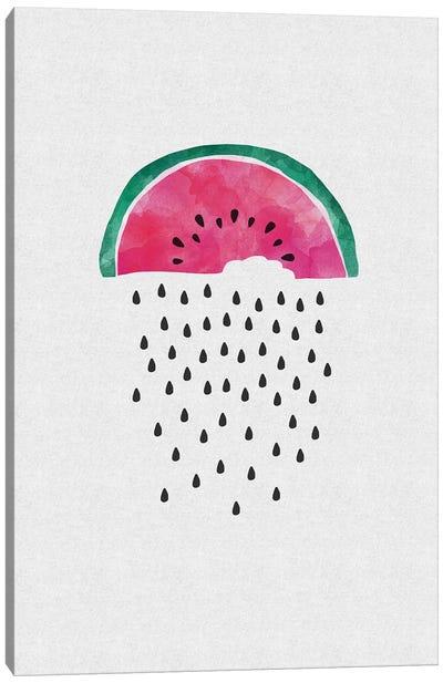 Watermelon Rain Canvas Art Print