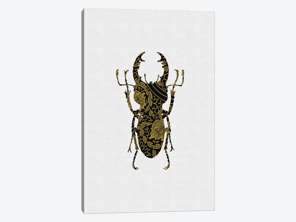 Black & Gold Beetle III by Orara Studio 1-piece Art Print