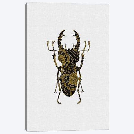 Black & Gold Beetle III Canvas Print #ORA22} by Orara Studio Canvas Art Print