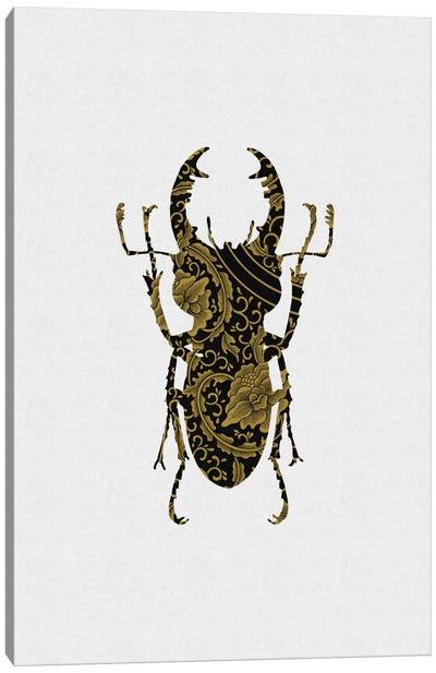 Black & Gold Beetle III Canvas Art Print