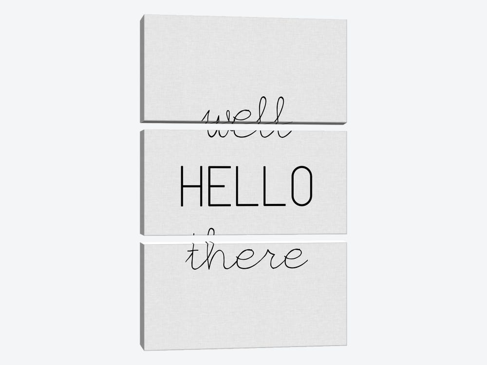 Well Hello There by Orara Studio 3-piece Canvas Print