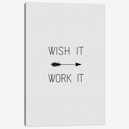 Wish It Work It Arrow Canvas Print #ORA234} by Orara Studio Canvas Art Print