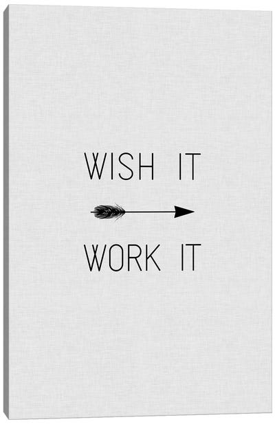 Wish It Work It Arrow Canvas Art Print