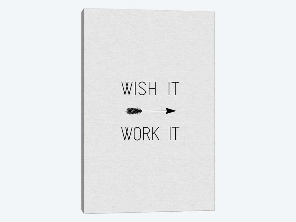 Wish It Work It Arrow 1-piece Canvas Art