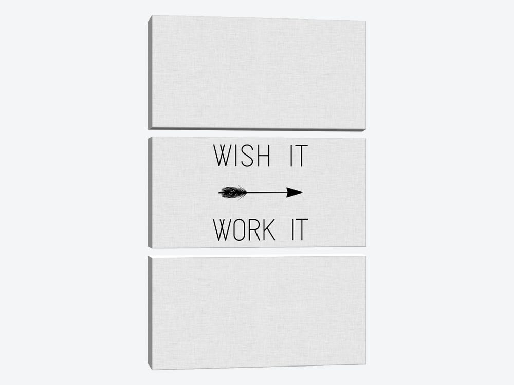 Wish It Work It Arrow 3-piece Canvas Art