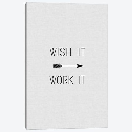 Wish It Work It Arrow Canvas Print #ORA234} by Orara Studio Canvas Art Print