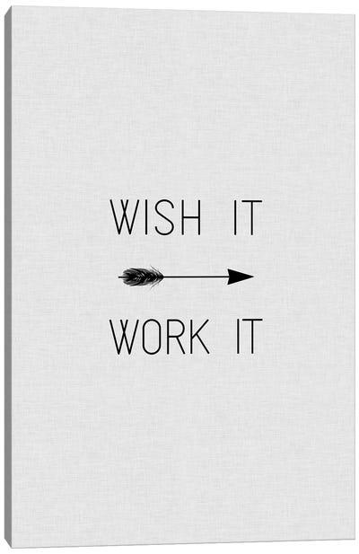 Wish It Work It Arrow Canvas Art Print
