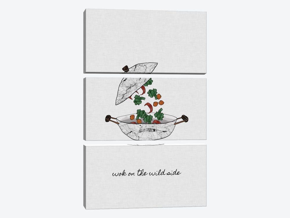 Wok On The Wild Side by Orara Studio 3-piece Art Print