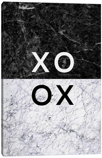 XO B&W Canvas Art Print