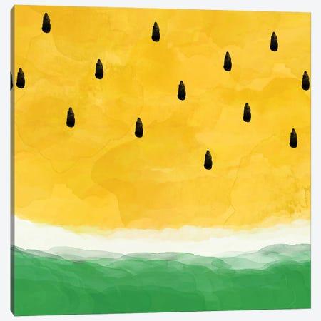 Yellow Watermelon Abstract Canvas Print #ORA238} by Orara Studio Canvas Art