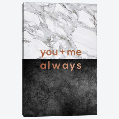 You & Me Always Copper Canvas Print #ORA239} by Orara Studio Canvas Art