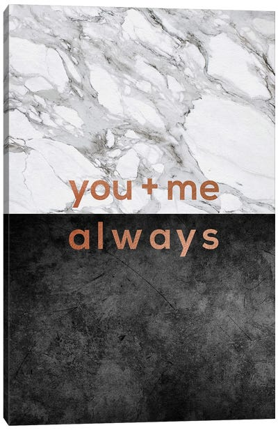 You & Me Always Copper Canvas Art Print