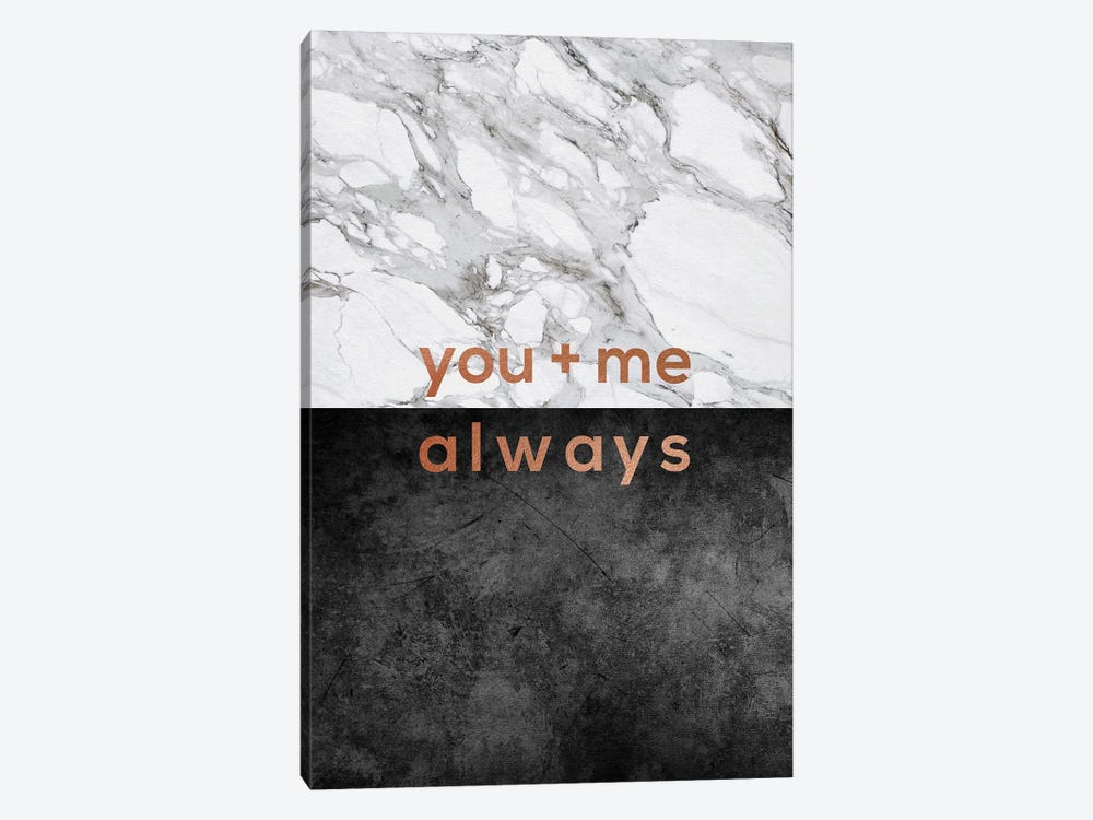 You & Me Always Copper by Orara Studio 1-piece Canvas Print