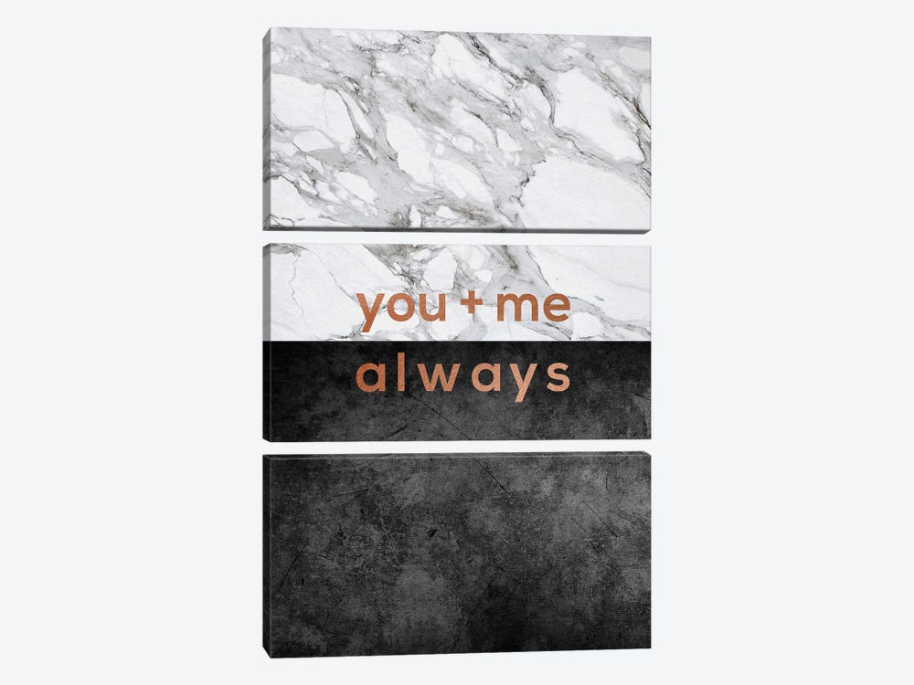 You & Me Always Copper by Orara Studio 3-piece Canvas Art Print
