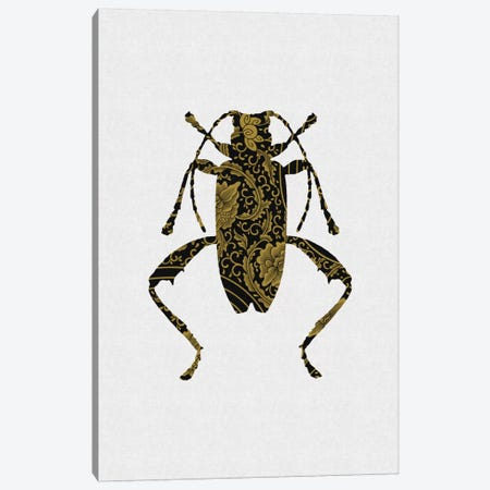 Black & Gold Beetle IV Canvas Print #ORA23} by Orara Studio Canvas Print