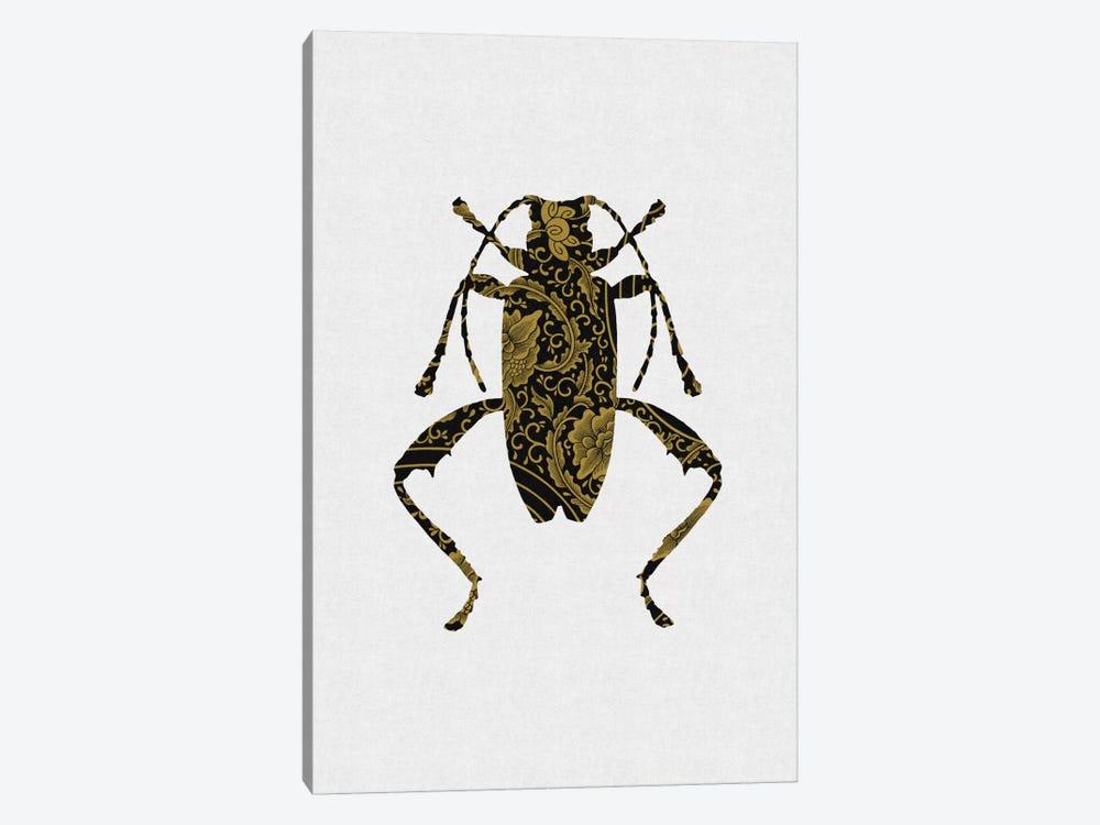 Black & Gold Beetle IV by Orara Studio 1-piece Canvas Artwork