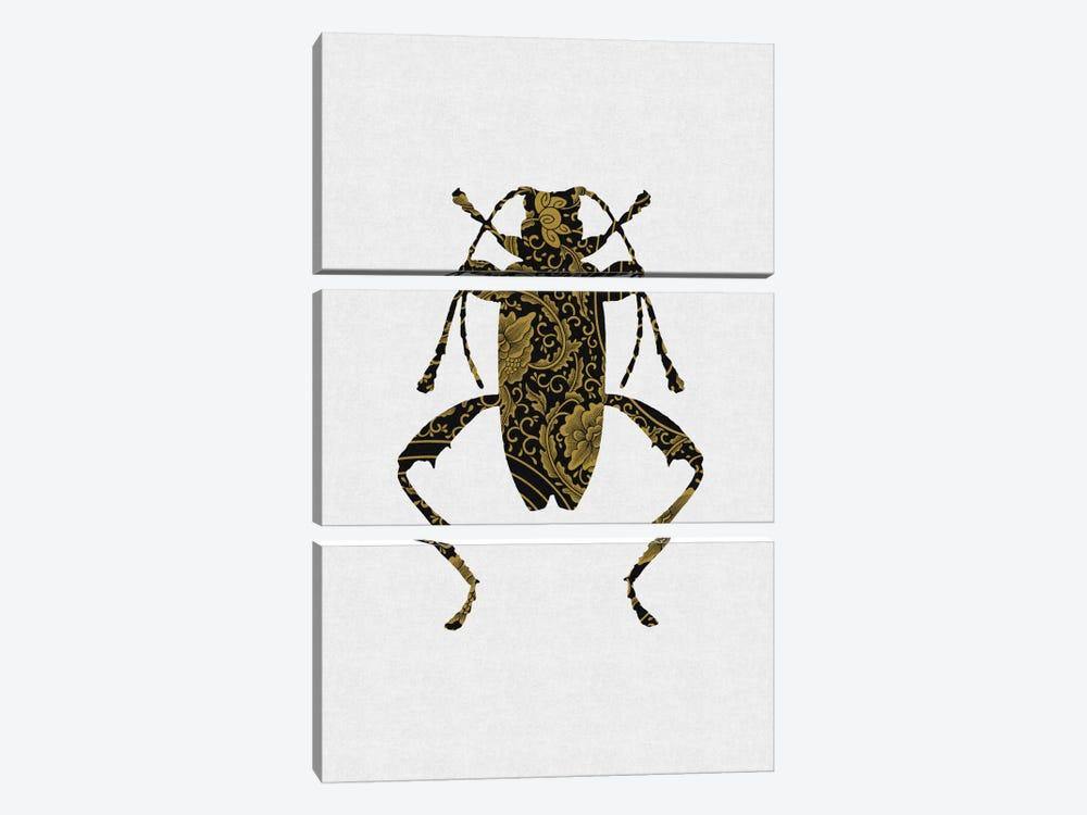 Black & Gold Beetle IV by Orara Studio 3-piece Canvas Art