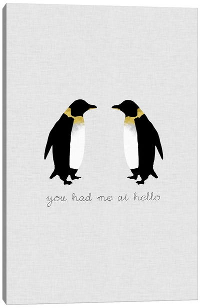 You Had Me Penguins Canvas Art Print