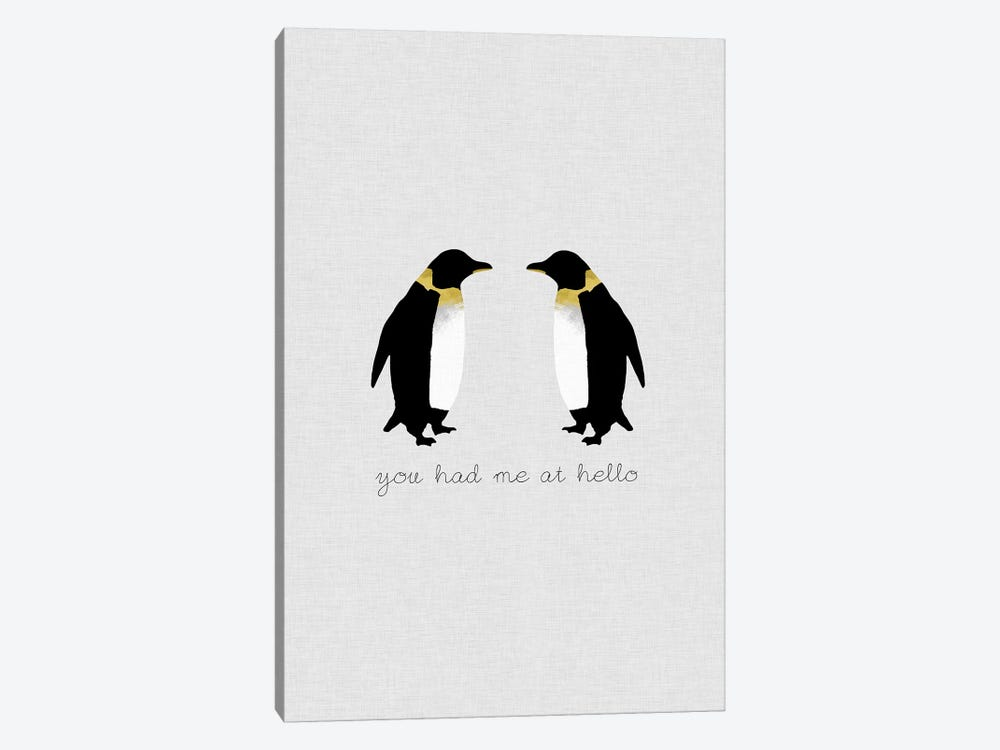 You Had Me Penguins by Orara Studio 1-piece Canvas Art Print