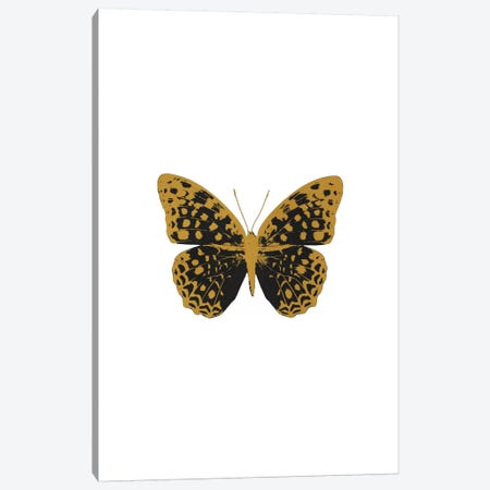 Black Butterfly Canvas Print #ORA24} by Orara Studio Canvas Art