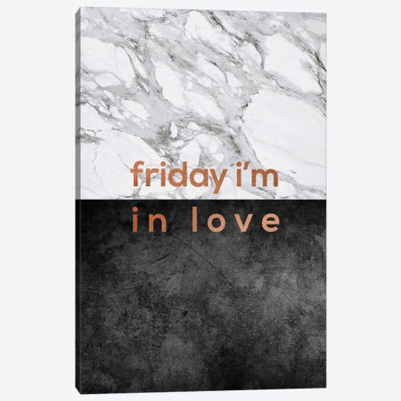 Friday I'm in Love Copper Canvas Print #ORA257} by Orara Studio Canvas Art Print