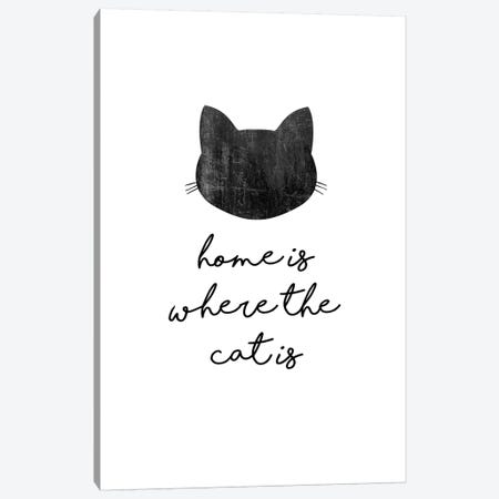 Home Is Where The Cat Is Canvas Print #ORA261} by Orara Studio Canvas Print