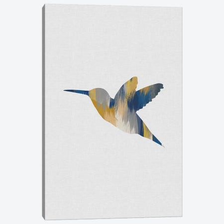 Hummingbird Blue & Yellow I Canvas Print #ORA263} by Orara Studio Canvas Print