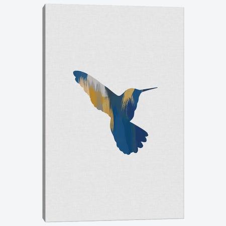 Hummingbird Blue & Yellow II Canvas Print #ORA264} by Orara Studio Canvas Art