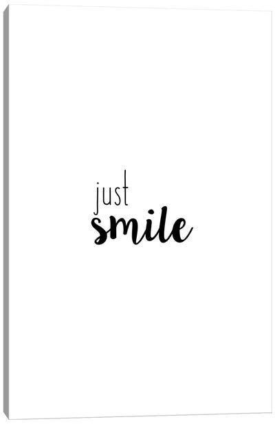 Just Smile Canvas Art Print