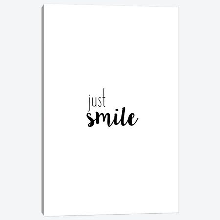Just Smile Canvas Print #ORA267} by Orara Studio Canvas Art