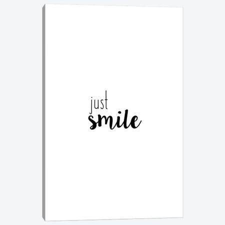 Just Smile Canvas Print #ORA267} by Orara Studio Canvas Art