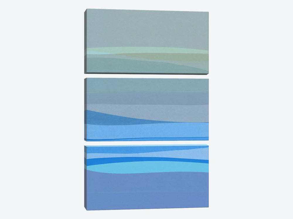 Blue Abstract I by Orara Studio 3-piece Canvas Print