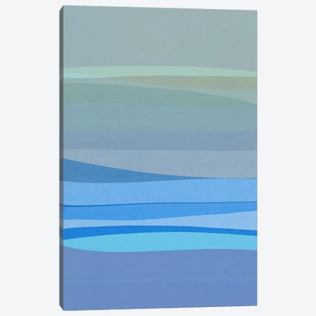 Blue Abstract I 3-Piece Canvas #ORA26} by Orara Studio Canvas Wall Art