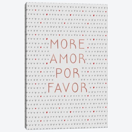 More Amor Rose Gold Canvas Print #ORA279} by Orara Studio Canvas Art